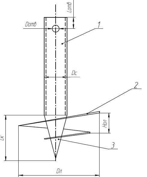 Схема изготовления винтовой сваи